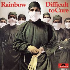 """Rainbow: """"Difficult to Cure"""" Don Airey's keyboard work in a hard-rock/heavy-metal setting was both inventive and masterful. Rock Album Covers, Classic Album Covers, Music Album Covers, Music Albums, The Mars Volta, Storm Thorgerson, Bruce Dickinson, Dream Theater, Def Leppard"""