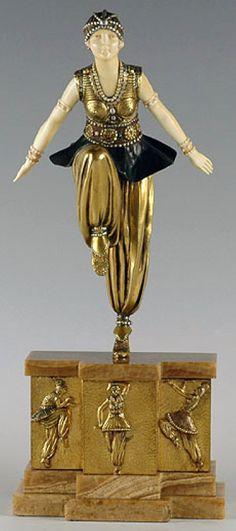 Demetre Chiparus - Art Déco - Sculpture 'Danseuse Orientale'