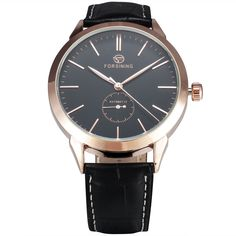 FORSINING Simple Designer Luxury Watch Rose Gold Case Mens Watches Top Brand Luxury Automatic Mechanical Watch Clock Men Montre #Affiliate
