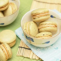 Green tea macarons - when elegance meets the sharpness of Asia flavors.