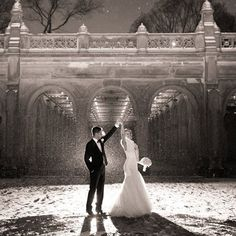 Bride and Groom in Central Park | Amy Rizzuto Photography | TheKnot.com