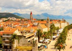 Trogir Croatia Just 30 miles north of Split, the seaside city of Trogir is one of the best-preserved Romanesque and Renaissance cities in Croatia.