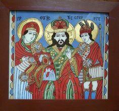 Icoane pe sticlă și pe lemn din Brașov: Deisis (Isus cu Miaca Domnului si Sf Gheorghe)