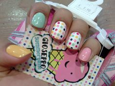nails! Love the polka dots