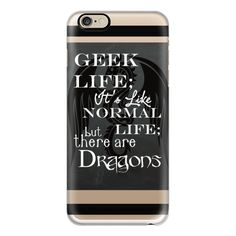 iPhone 6 Plus/6/5/5s/5c Case - Geek Life with Dragons Fathers Day... ($40) ❤ liked on Polyvore featuring accessories, tech accessories, phone cases, iphone case, iphone cases, iphone cover case, apple iphone cases and slim iphone case
