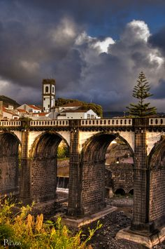 I can't tell you how many times I've walked over that bridge as a kid. São Miguel island, Azores