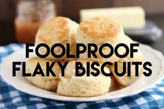 The secret to Foolproof Flaky Biscuits is revealed! Find out how to get flaky, l. The secret to Foolproof Flaky Biscuits is revealed! Find out how to get flaky, layered, buttery, tender biscuits you will swoon over! Bread Recipes, Cookie Recipes, Pumpkin Recipes, Pasta Recipes, Cooking Videos Tasty, Flaky Biscuits, Buttermilk Biscuits, Good Food, Yummy Food
