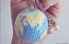 (코바늘) 지구를 손 안에.. 지구본 키링/무료도안/공개도안 : 네이버 블로그 Knitting, Crochet, How To Make, Tricot, Cast On Knitting, Chrochet, Stricken, Crocheting, Knits
