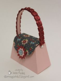 Stampin' Up! Petite Purse made with the new sizzix die