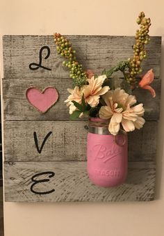 Love wall sign wall decor pallet sign by FindyourCountryside