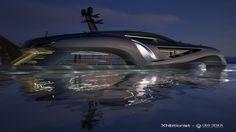 Xhibitionist - when a superyacht meets a supercar #yacht #design #artnoveau