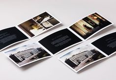 horizontal brochure design with large photos