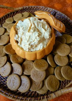 Pumpkin Fluff ~ •1 (15oz) can pumpkin •16 oz cool whip •5.1 oz instant vanilla pudding •1 tsp pumpkin spice •1 tsp vanilla   Stir all ingredients until thoroughly combined. Chill until ready to serve.   I like to serve this with gingersnaps, graham crackers or apple slices.