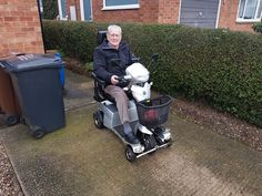 Mr Morrow on his Vitess 2 mobility scooter which one will be perfect for you? Get a home test drive here http://contact.quingoscooters.com/social-mobility-scooters