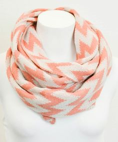 Peach & White Zigzag Infinity Scarf. I have this scarf and love it!!!!