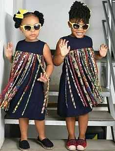 Your little girl will be more self confidence and more attractiveAnd you could only get better if you are robed in the style Baby African Clothes, African Dresses For Kids, Latest African Fashion Dresses, Little Girl Dresses, Ankara Styles For Kids, Girls Pinafore Dress, African Print Jumpsuit, Kids Dress Wear, African Attire