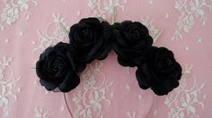 Hey, I found this really awesome Etsy listing at http://www.etsy.com/listing/163403923/pastel-goth-black-roses-and-silver