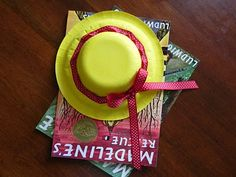 madeline hats from paper bowls and plates