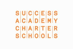 The Success Academy identity organizes the letters of the name into rows.