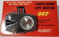 GILBERT: 1965 James Bond 007 Spy Watch--totally remember this. I think it was my brother's, but I played with it a lot. Wish it was still around.