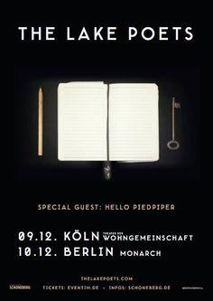 Wir präsentieren mit großer Freude: The Lake Poets im Dezember endlich auf Deutschland-Tour http://whitetapes.com/tourpraesentationen/wir-prasentieren-the-lake-poets-im-dezember-auf-deutschland-tour