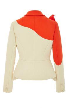 Flower Applique Cotton Blazer by DELPOZO for Preorder on Moda Operandi