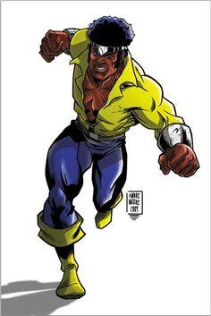 Luke Cage (Power Man), Hero for Hire Black Characters, Comic Book Characters, Comic Book Heroes, Marvel Characters, Comic Character, Comic Books Art, Comic Art, Book Art, Luke Cage Marvel