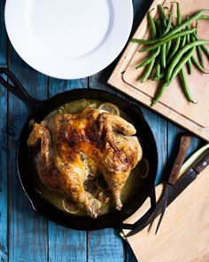 Lemon Garlic Spatchcocked Chicken from @chasingdelicious