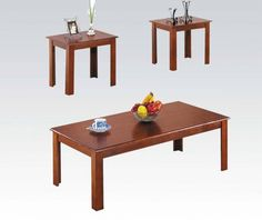 Bingham 3 Piece Coffee Table Set in Espresso