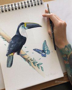 Tatuadores para você agendar sua tatuagem (2021)! - Blog Tattoo2me Bird, Drawings, Animals, Black Artwork, Unique Tattoos, Delicate Tattoo, Artists, Animales, Animaux