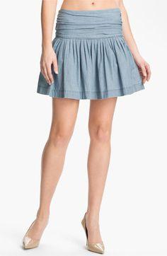 Paige Denim 'Danni' Ruched Chambray Skirt