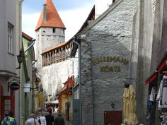 An image of a fairy tale town Tallinn, Estonia.
