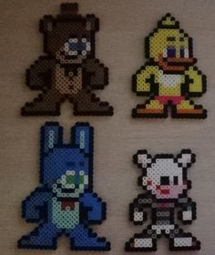 Cinco noches en 2 de Freddy como Mega Man Perler