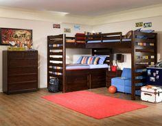 L shape loft bed