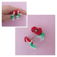 ariel earrings in fimo polymer clay by Artmary2 on Etsy