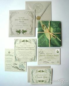 LOTR wedding invitations