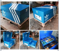 A giant shoe box where I can stack my sneakers... Doesnt matter which brand. #shoebox #shoestorage #adidas #nike