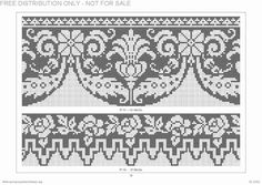 Crochet Borders, Cross Stitch Borders, Stitch Patterns, Crochet Patterns, Fillet Crochet, Crochet Curtains, Beaded Bags, Embroidery Designs, Needlework