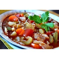 """Cabbage Fat-Burning Soup 
