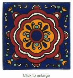 Mexican Talavera Tile - PP2183 - 15 Handpainted Tiles