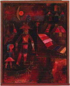 """Village Carnival,"" 1926, Paul Klee. Oil on canvas on panel; 25 11/16 x 17 5/16 in. (65.2 x 44 cm) Philadelphia Museum of Art."