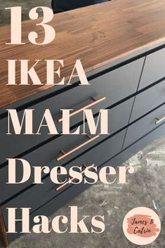 The Ikea Malm dresser is iconic and so simple. It is perfect for an Ikea Malm hack. These Ikea Malm dresser hacks are the best we could find and we wanted to show you. Hopefully you can find some Ikea Malm hack inspiration! Ikea Linnmon Desk, Ikea Malm Drawers, Ikea Malm Dresser, Dresser Desk, Painting Ikea Furniture, Ikea Furniture Hacks, Painted Furniture, Malm Hack, Ikea Units