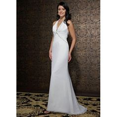 Sexy Long Halter Simple Wedding Gowns for Less