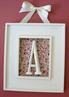 Framed Initial (for wall gallery)