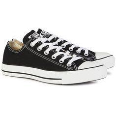 Womens Low-Top Trainers Converse All Star Black Canvas Trainers ($65) ❤ liked on Polyvore featuring shoes, sneakers, converse, scarpe, converse shoes, lacing sneakers, black trainers, low top canvas sneakers and black lace up shoes
