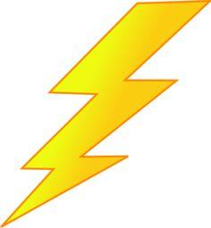 White Lightning Bolt clip art - vector clip art online ... | superhero ...