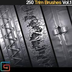 JRO - 250 SF Trim Brushes/Alphas Vol 1, jonas ronnegard on ArtStation at https://www.artstation.com/artwork/RmNZO