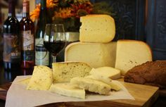 Texas wine & cheese! Pictured here: artisan cheese from Waco and Dublin (TX) with wines from TX Hills Vineyard, Brennan Vineyards, and Bernhardt Winery - all available at Royalty Pecan Farms.