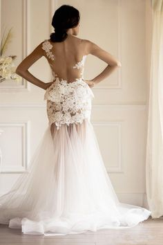 Sweetheart Mermaid Wedding Dress With Lace Bodice on Luulla