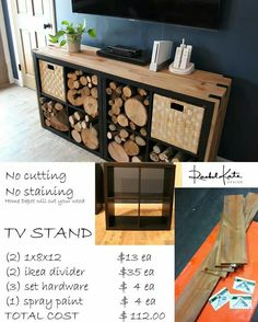 Ikea expedit shelves hack